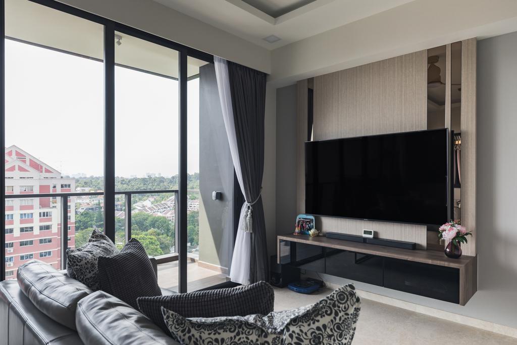 Contemporary, Condo, Living Room, Thomson Impressions, Interior Designer, Omni Design