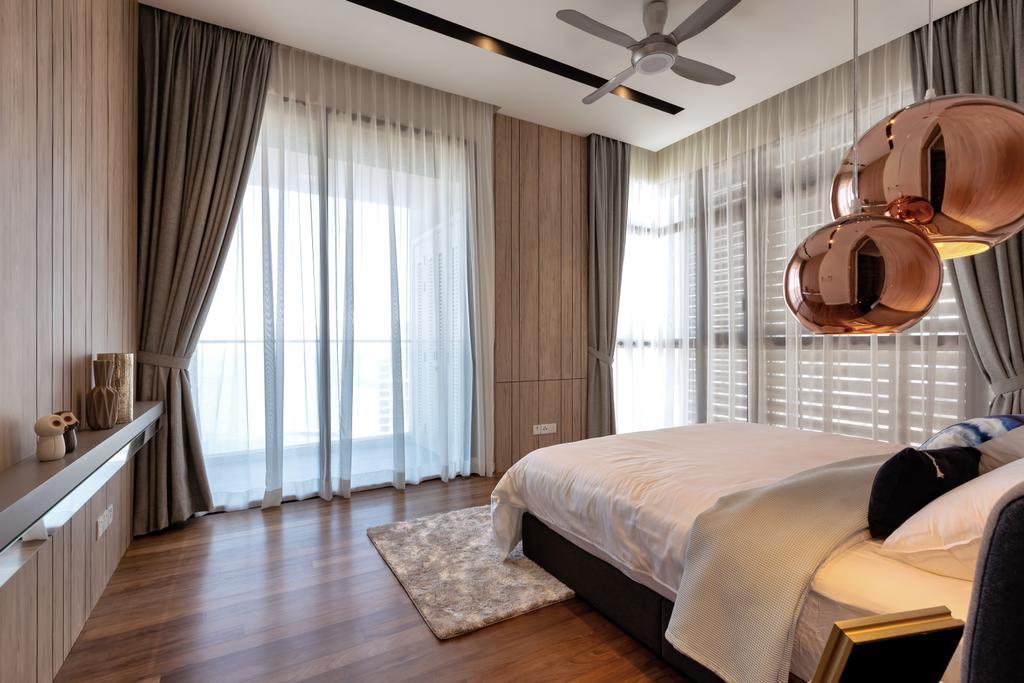 Modern, Condo, Bedroom, Setia V Residence, Pulau Penang, Interior Designer, Millewn Designs, Contemporary