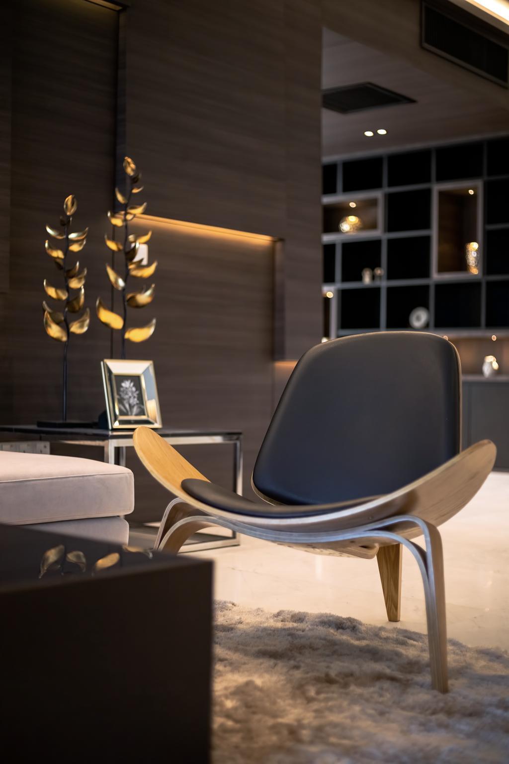 Modern, Condo, Living Room, Setia V Residence, Pulau Penang, Interior Designer, Millewn Designs, Contemporary