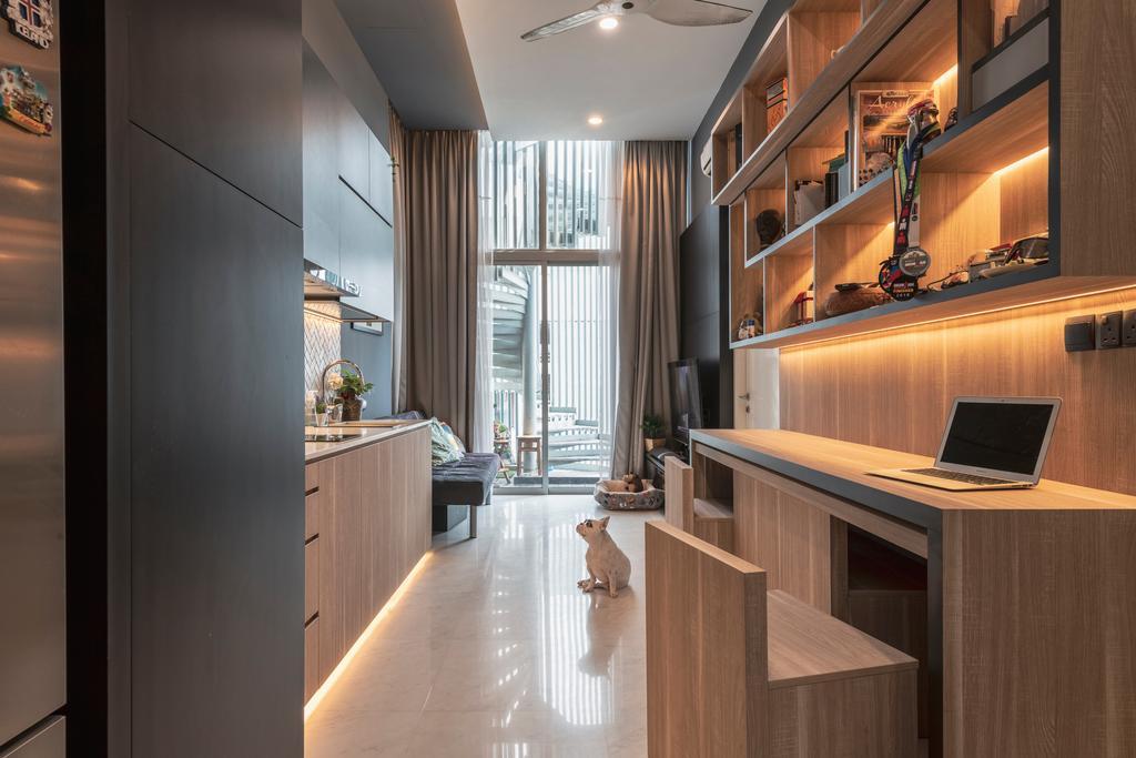 Contemporary, Condo, Living Room, The Mercury, Interior Designer, Colourbox Interior