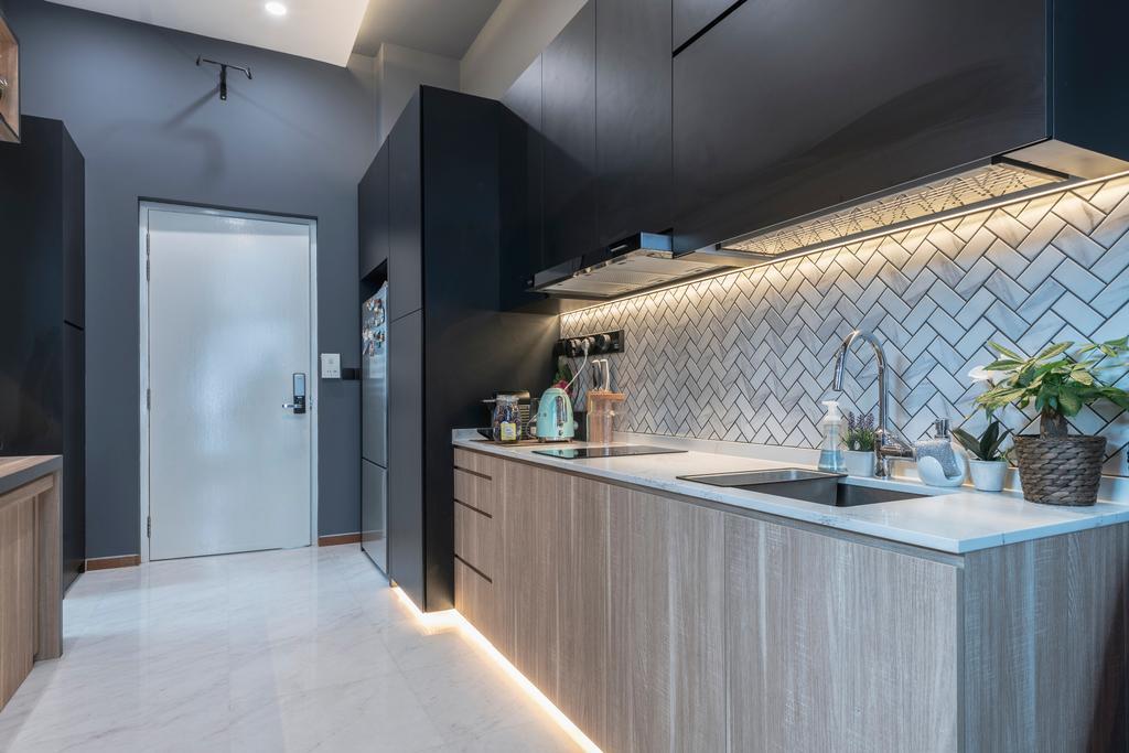 Contemporary, Condo, Kitchen, The Mercury, Interior Designer, Colourbox Interior