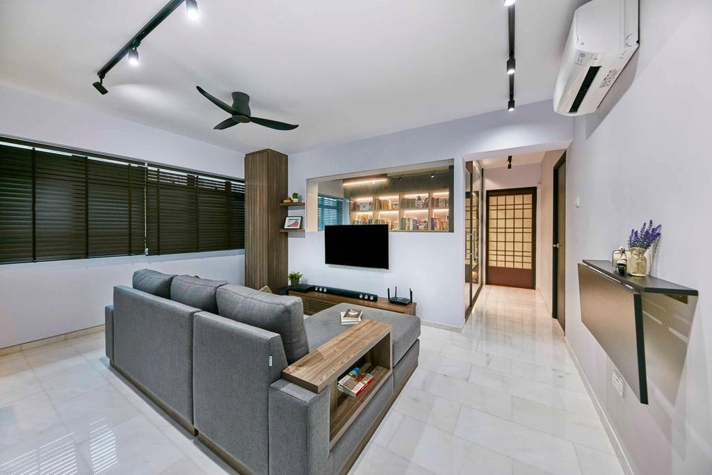Contemporary, HDB, Living Room, Cantonment Close, Interior Designer, The Interior Lab