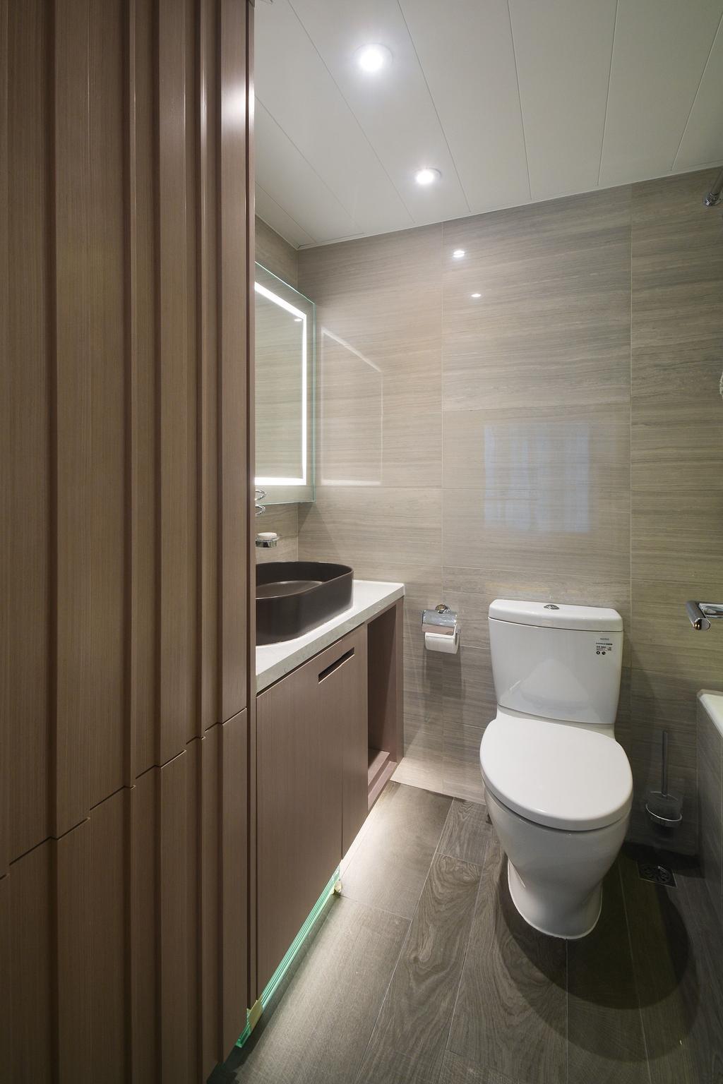 私家樓, 浴室, 君臨天下, 室內設計師, Space Design