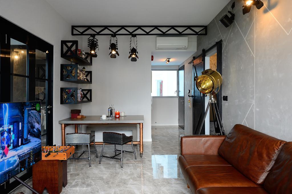 Contemporary, Condo, Living Room, The Santorini, Interior Designer, M Squared Dezign