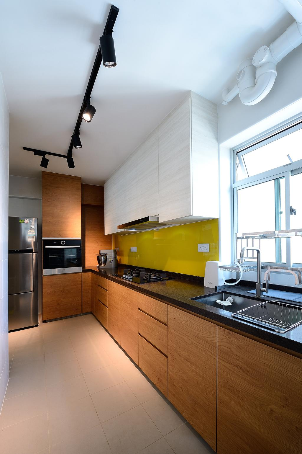 Contemporary, HDB, Kitchen, Bukit Batok Street 21, Interior Designer, M Squared Dezign