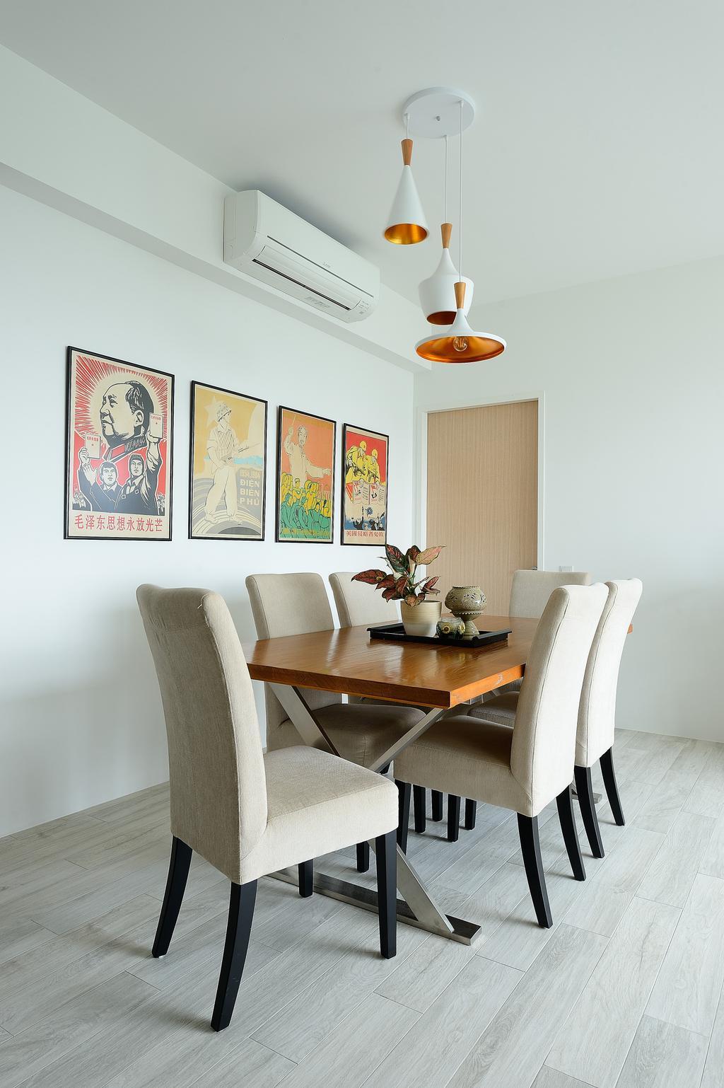 Contemporary, Condo, Dining Room, Riveredge, Interior Designer, M Squared Dezign, Modern