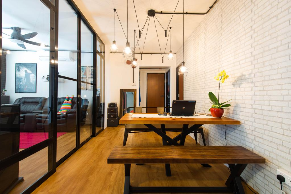 Industrial, HDB, Dining Room, Geylang Lorong 3, Interior Designer, M Squared Dezign, Contemporary