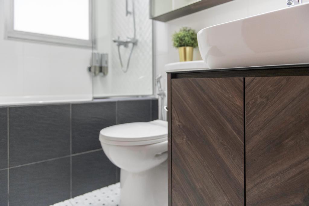 Contemporary, HDB, Bathroom, Bukit Batok East Avenue 6, Interior Designer, Voila