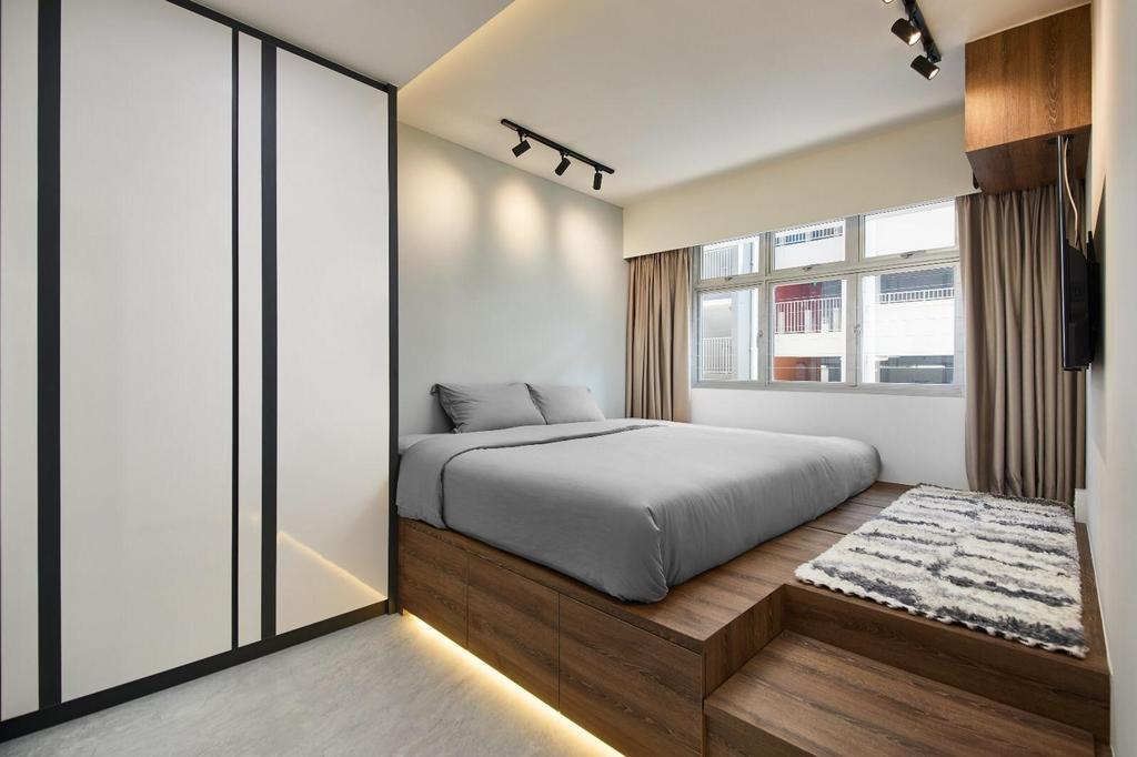 Contemporary, HDB, Bedroom, Corporation Drive, Interior Designer, 96 Designers Group