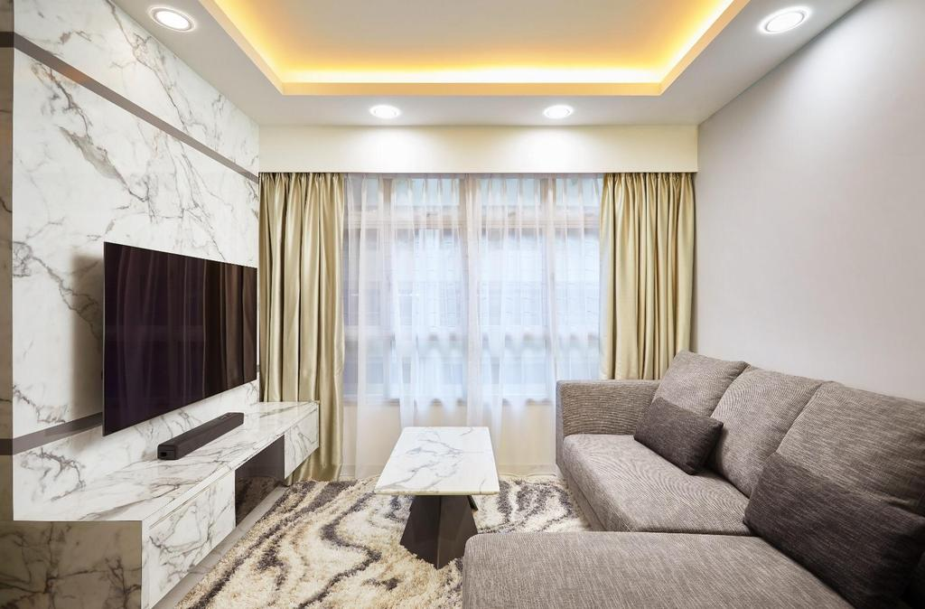 Contemporary, HDB, Living Room, Corporation Drive, Interior Designer, 96 Designers Group