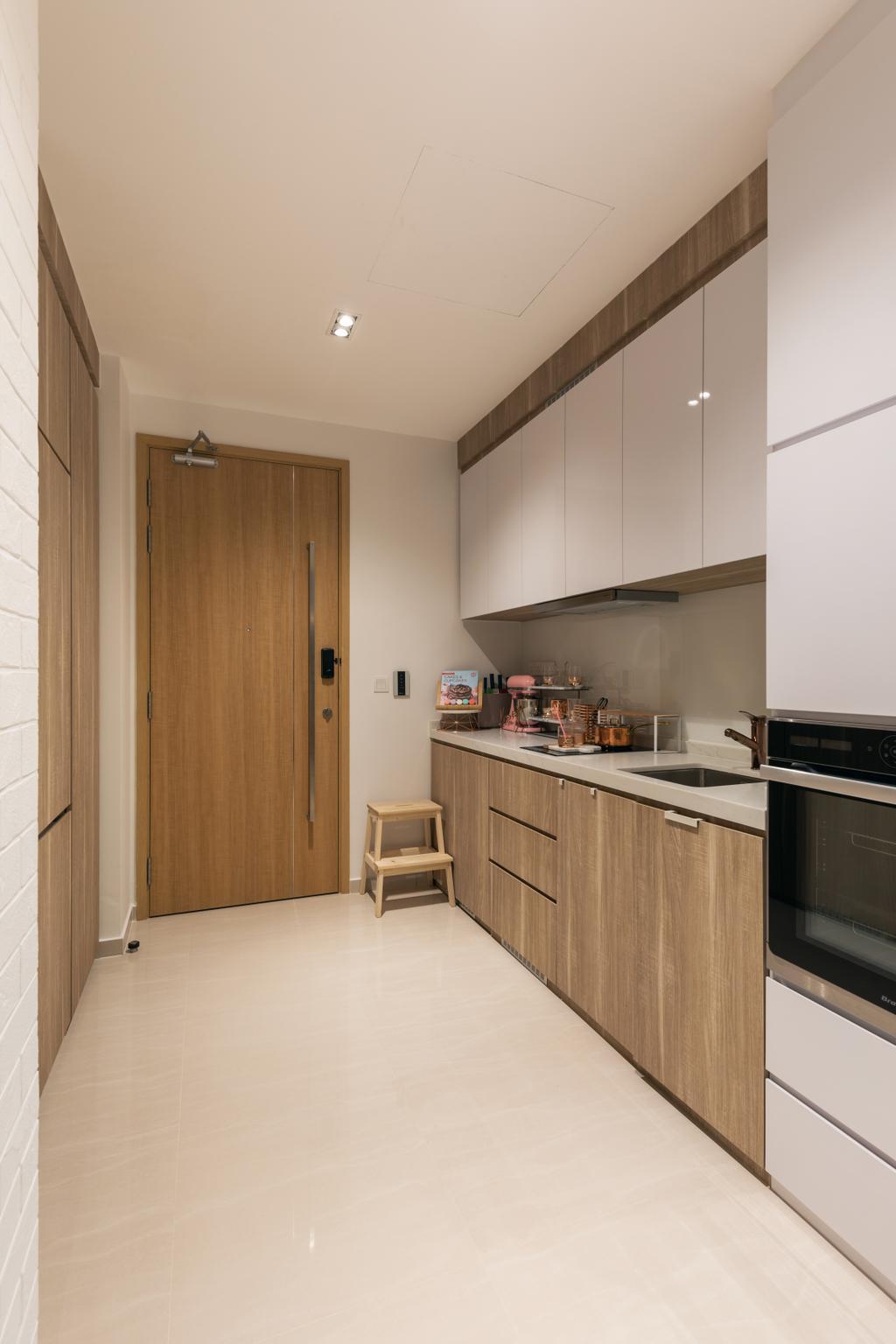 Contemporary, Condo, Kitchen, Floraview, Interior Designer, Space Define Interior