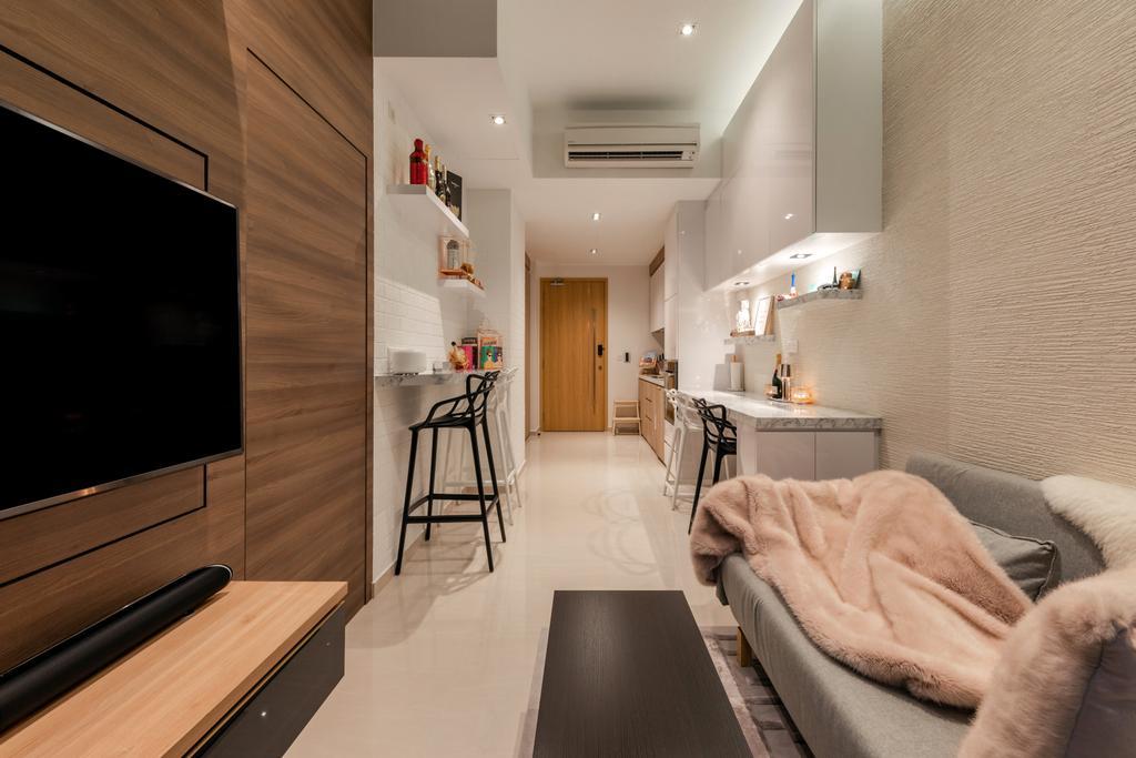 Contemporary, Condo, Living Room, Floraview, Interior Designer, Space Define Interior