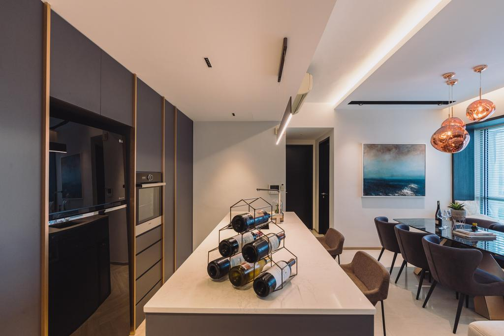 Contemporary, Condo, Kitchen, Domain 21, Interior Designer, Artmuse Interior, Modern, Kitchen Island