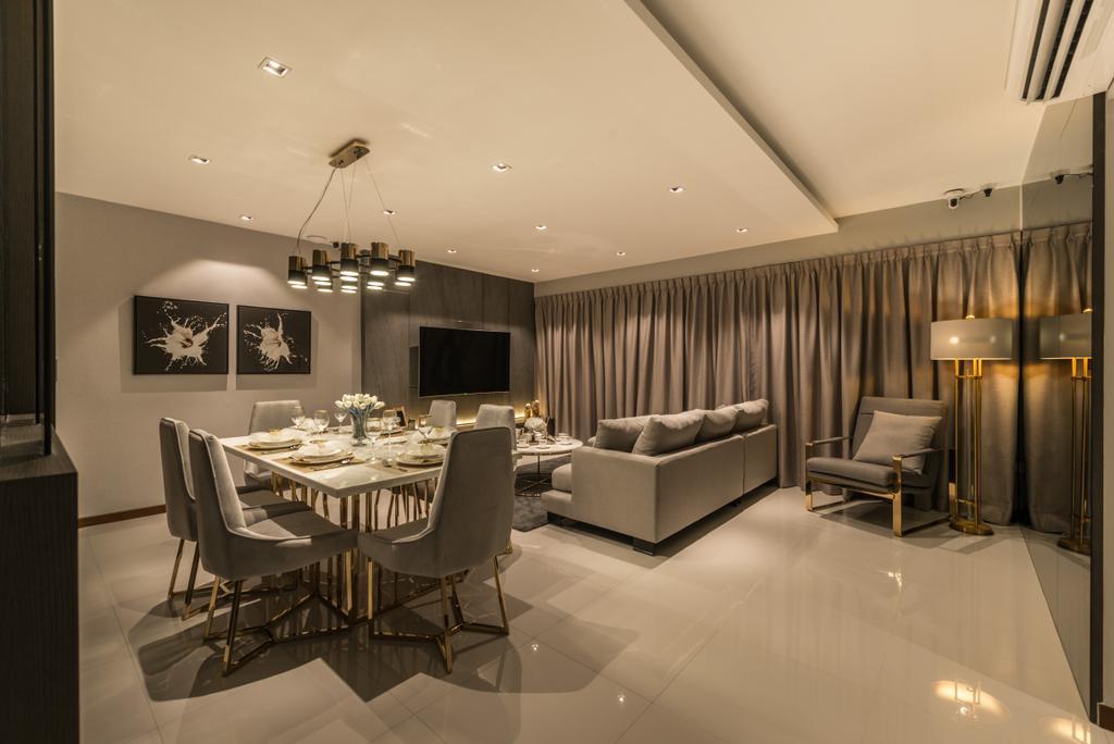 Contemporary, HDB, Living Room, Woodlands Drive 70, Interior Designer, 19 Eighty Three
