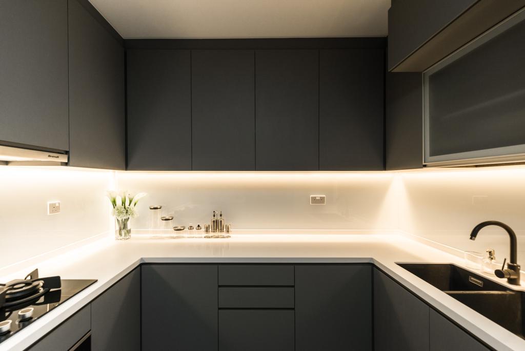 Contemporary, HDB, Kitchen, Woodlands Drive 70, Interior Designer, 19 Eighty Three