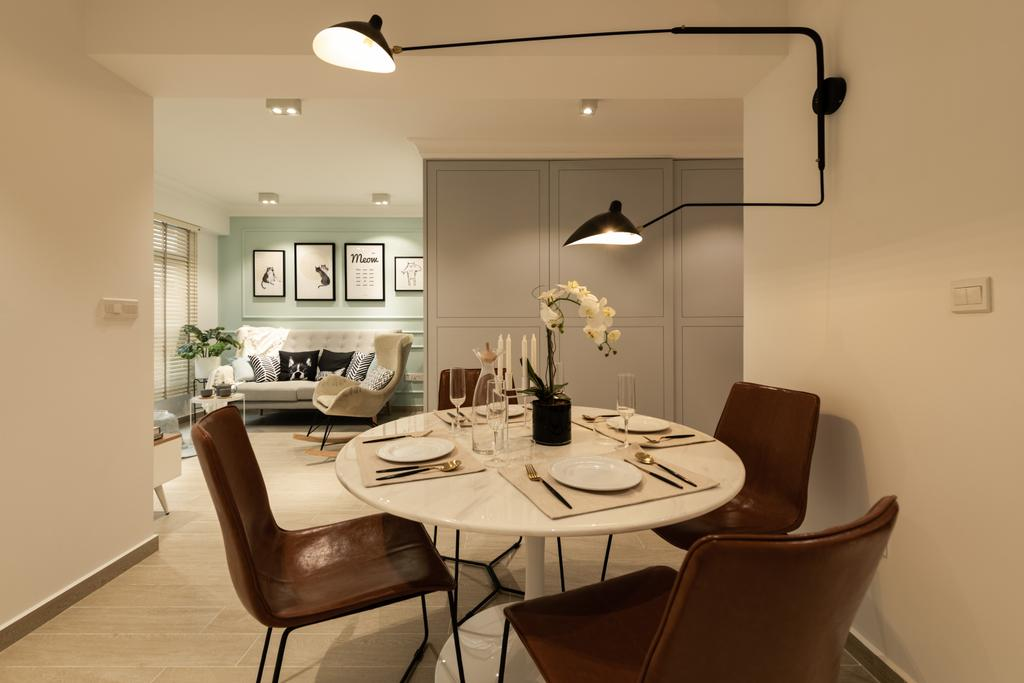 Contemporary, HDB, Dining Room, Buangkok Crescent, Interior Designer, 19 Eighty Three