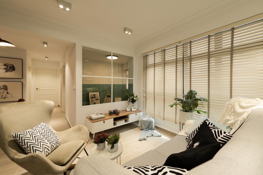Contemporary, HDB, Living Room, Buangkok Crescent, Interior Designer, 19 Eighty Three