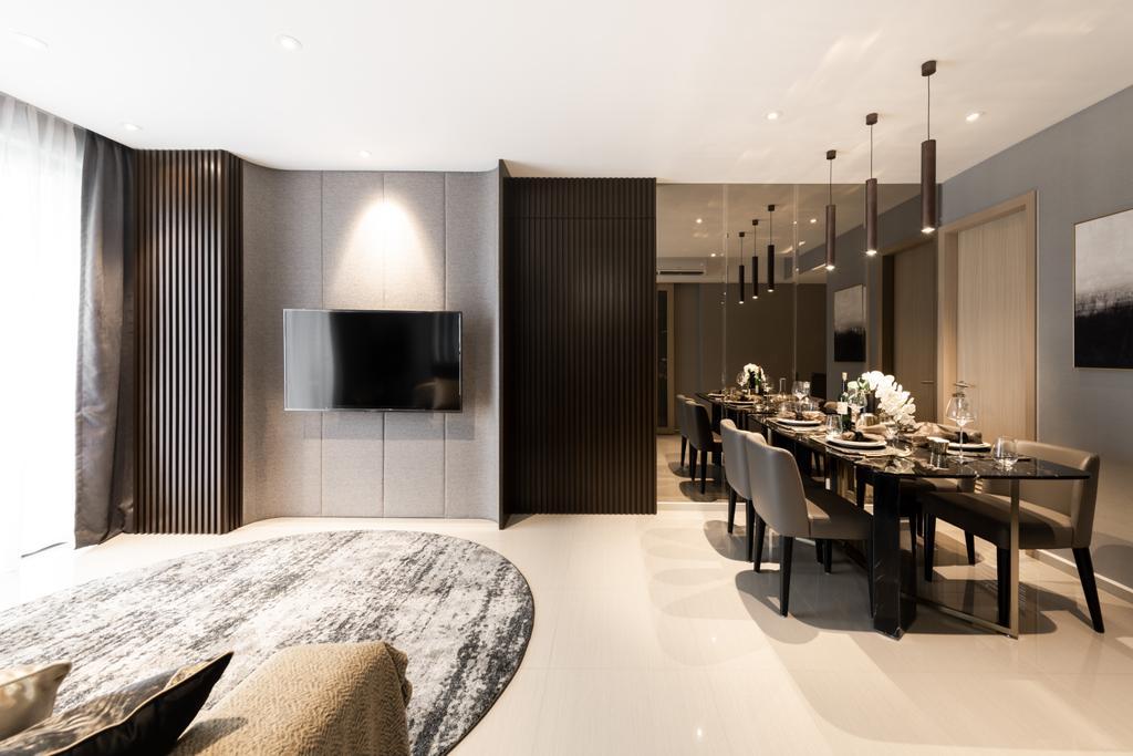 Contemporary, Condo, Living Room, Parc Life, Interior Designer, 19 Eighty Three, Modern
