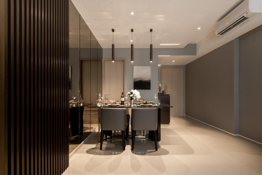 Contemporary, Condo, Dining Room, Parc Life, Interior Designer, 19 Eighty Three, Modern