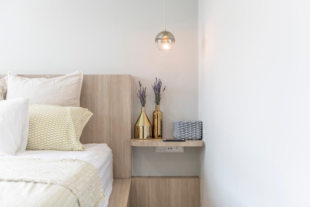 Scandinavian, Condo, Bedroom, Treasure Gardens, Interior Designer, Voila