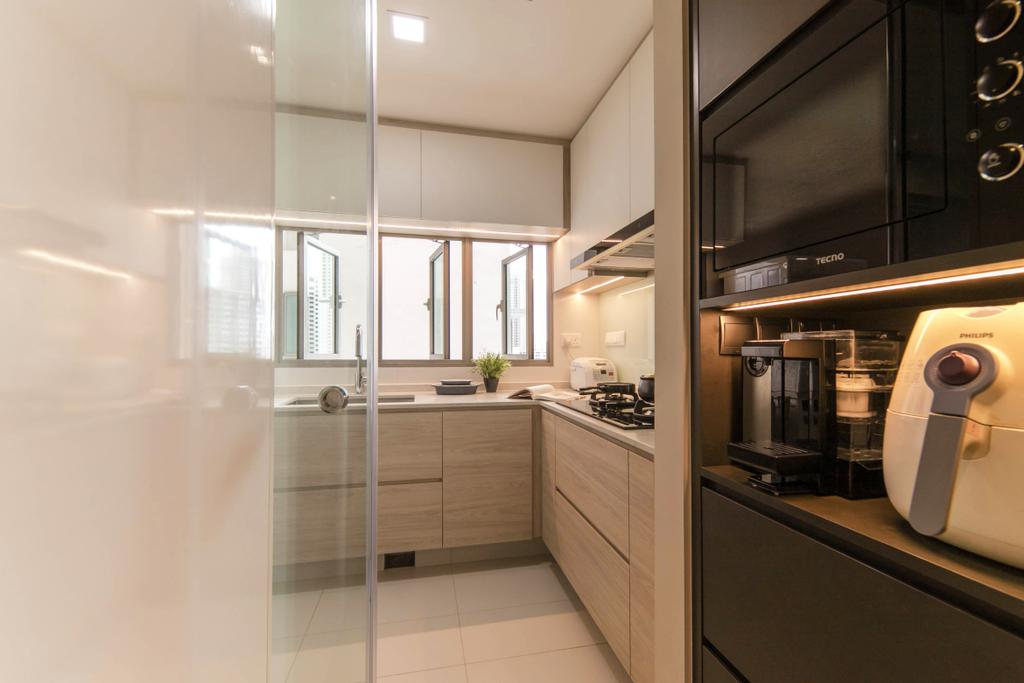Condo, Kitchen, Trevista, Interior Designer, Space Atelier