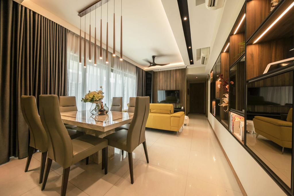 Condo, Living Room, Trevista, Interior Designer, Space Atelier