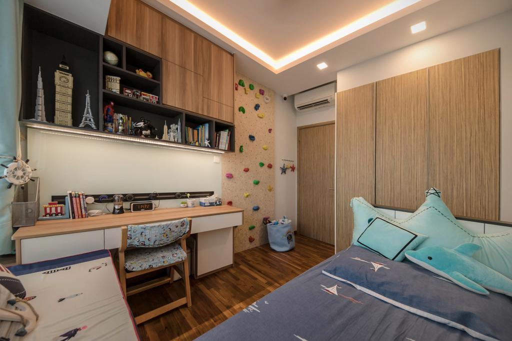 Condo, Bedroom, Trevista, Interior Designer, Space Atelier