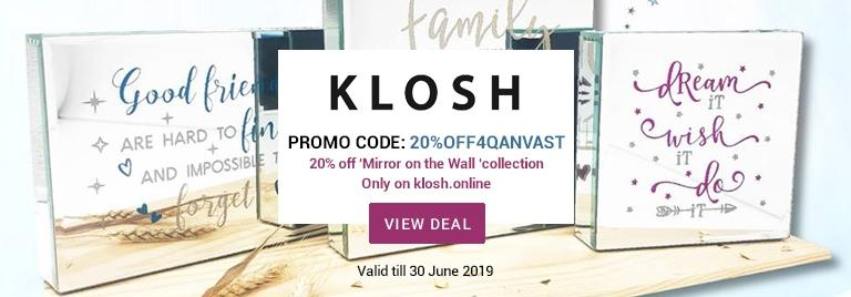 20% off Klosh Mirror on the Wall collection