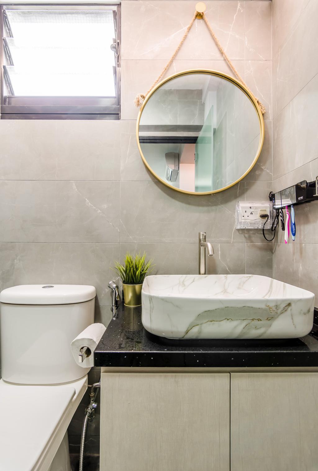 Contemporary, HDB, Bathroom, Yishun Avenue 4, Interior Designer, Dap Atelier