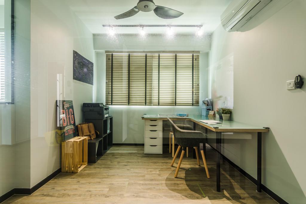 Contemporary, HDB, Study, Yishun Avenue 4, Interior Designer, Dap Atelier