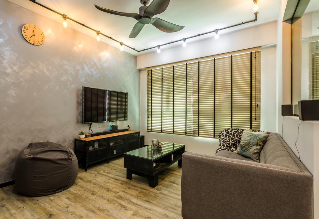 Contemporary, HDB, Living Room, Yishun Avenue 4, Interior Designer, Dap Atelier