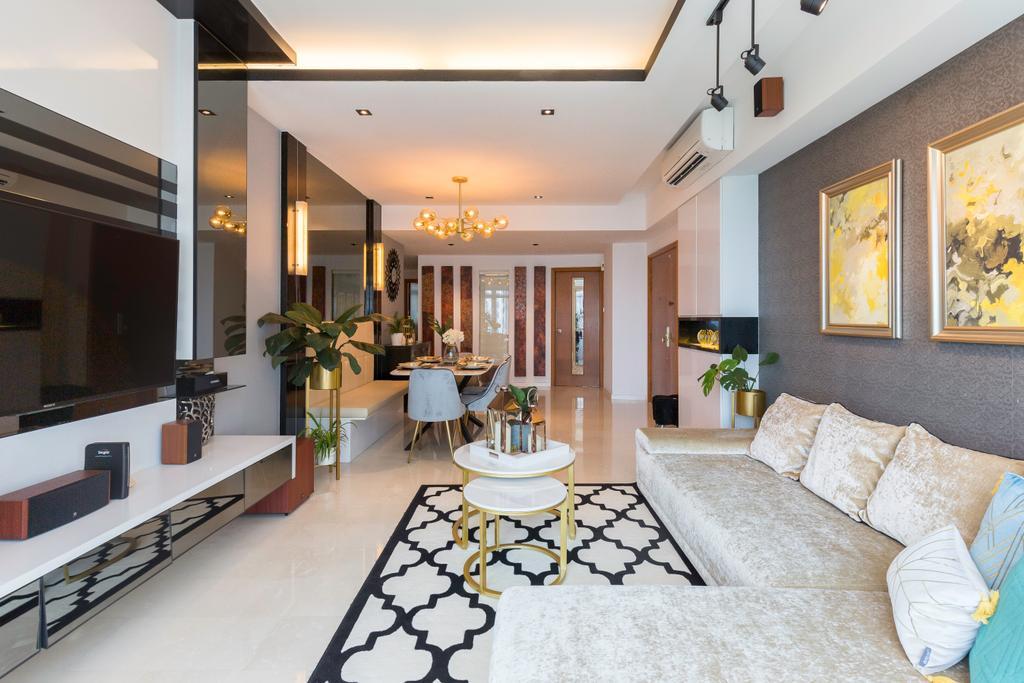 Contemporary, Condo, Living Room, Costa Del Sol, Interior Designer, Image Creative Design