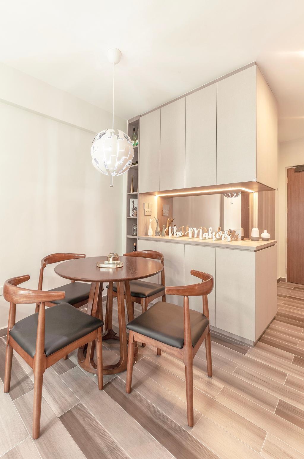 Contemporary, HDB, Dining Room, Bukit Batok West Avenue 6, Interior Designer, The Makers Design Studio
