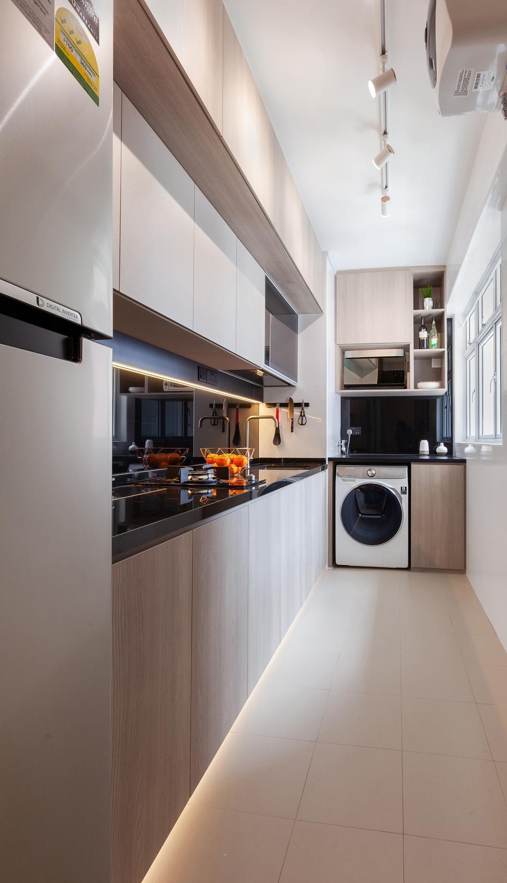 Contemporary, HDB, Kitchen, Bukit Batok West Avenue 6, Interior Designer, The Makers Design Studio