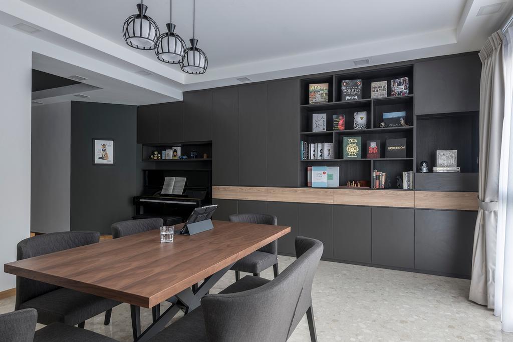 Contemporary, Condo, Living Room, Woodsvale, Interior Designer, Adroit ID