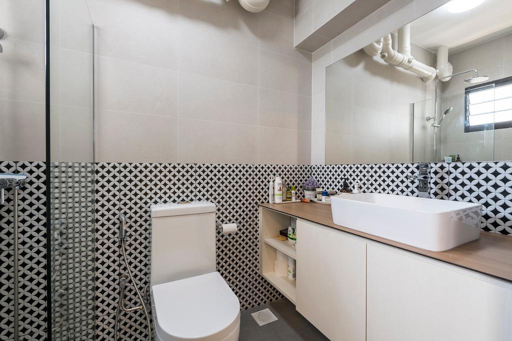 Contemporary, HDB, Bathroom, Jurong West Street 65, Interior Designer, Adroit ID, Scandinavian