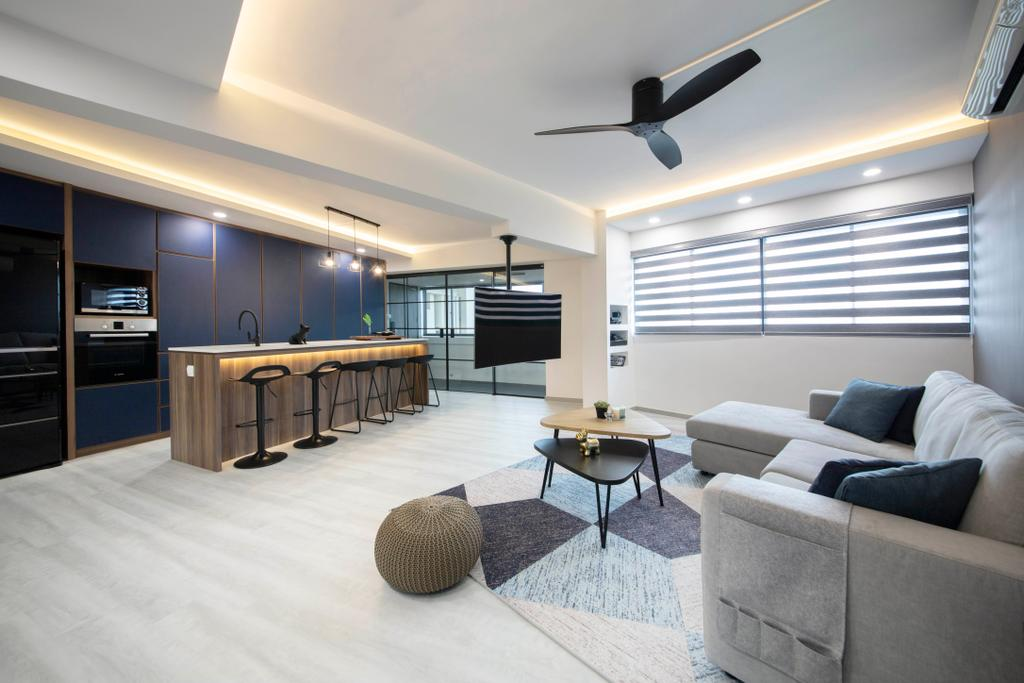 Contemporary, HDB, Living Room, Hougang Avenue 5, Interior Designer, The Interior Place