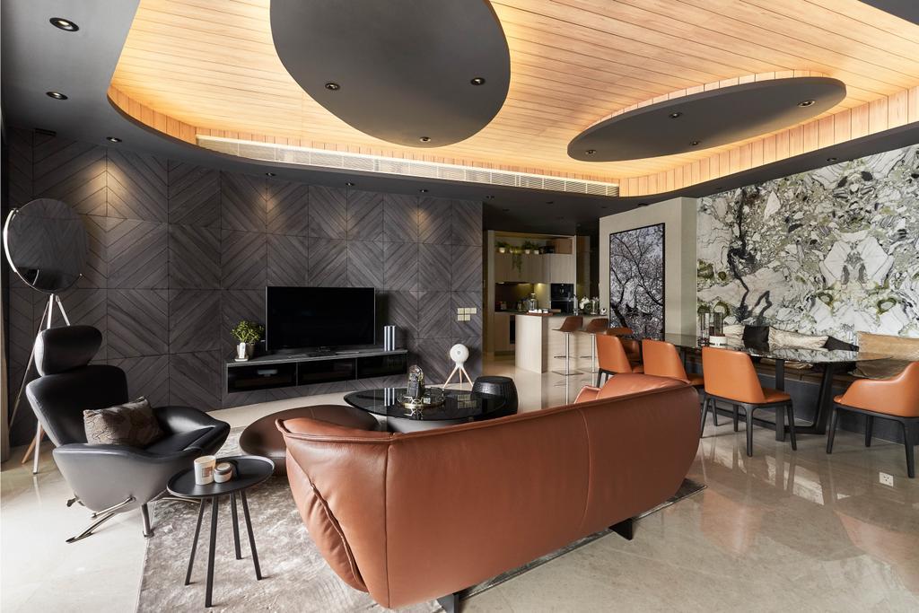 Contemporary, Condo, Living Room, Duo Residences, Interior Designer, Free Space Intent