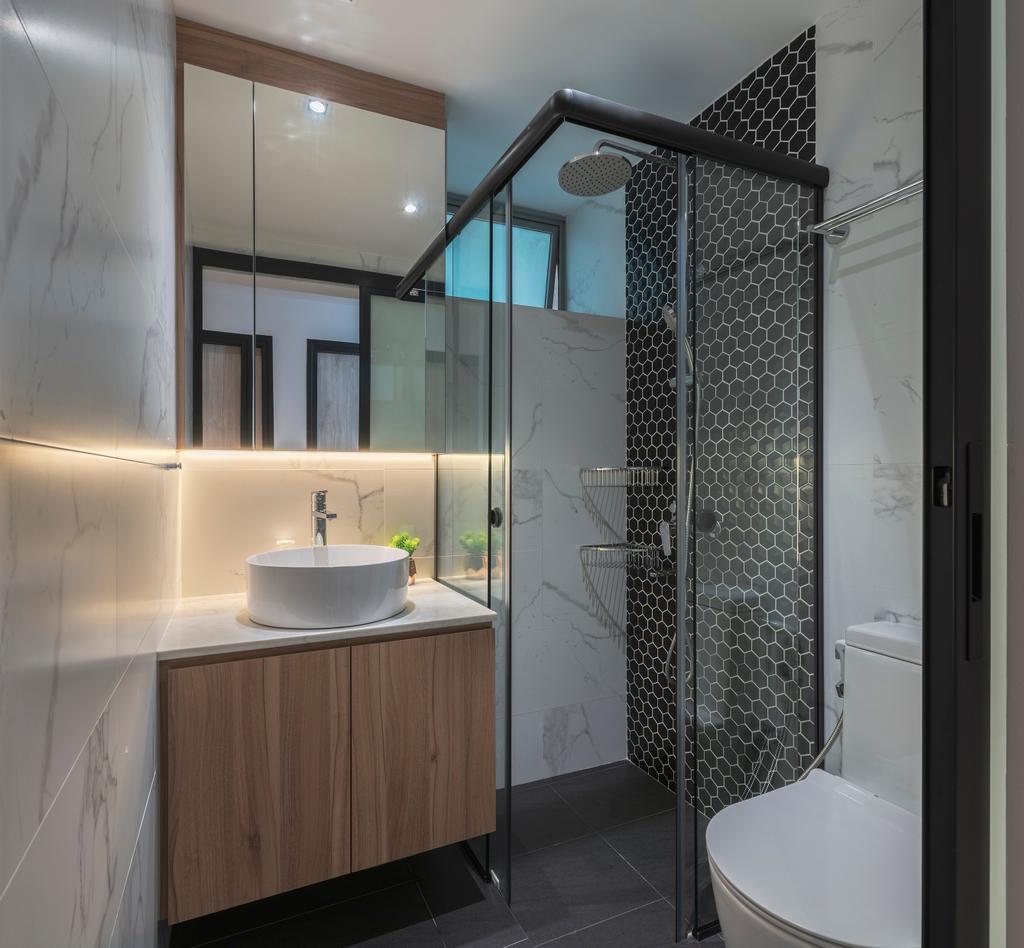 Scandinavian, Condo, Bathroom, Bishan Loft, Interior Designer, Meter Square