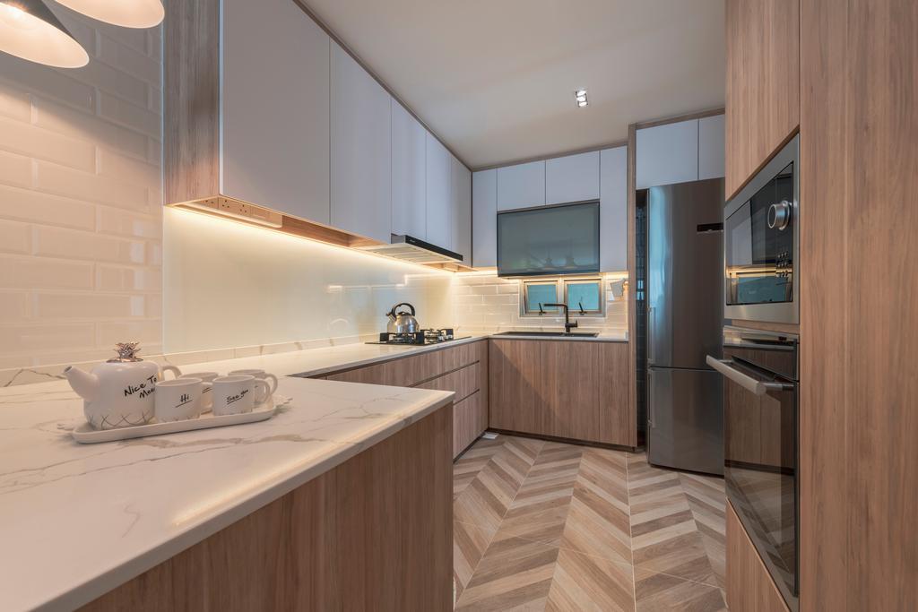 Scandinavian, Condo, Kitchen, Bishan Loft, Interior Designer, Meter Square