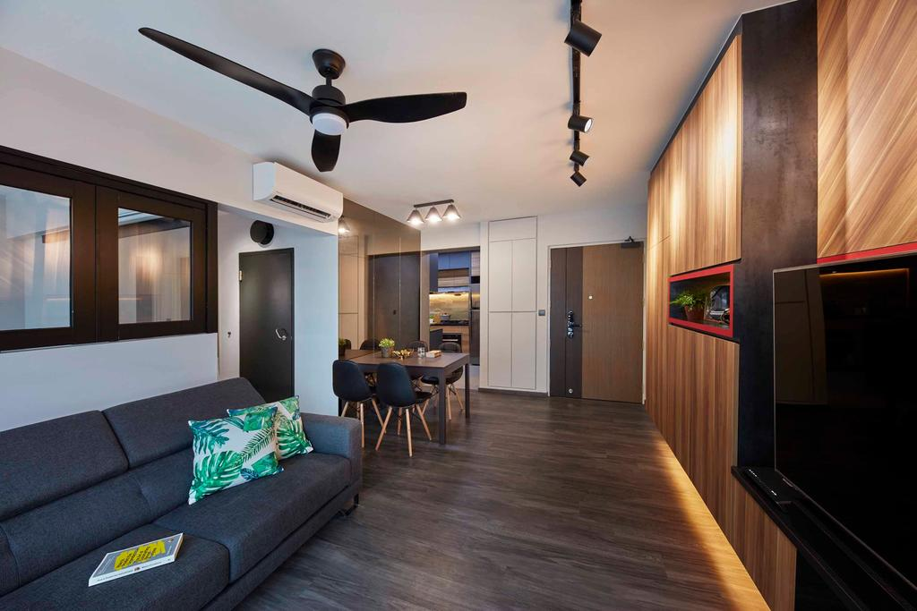 Contemporary, HDB, Living Room, Compassvale Drive, Interior Designer, The Interior Lab