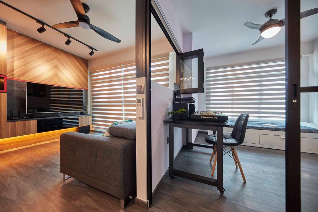 Contemporary, HDB, Living Room, Compassvale Drive, Interior Designer, The Interior Lab