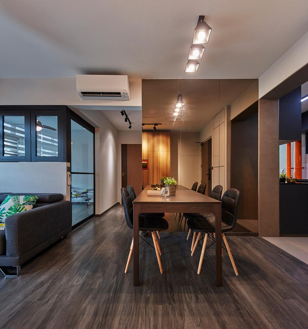 Contemporary, HDB, Dining Room, Compassvale Drive, Interior Designer, The Interior Lab