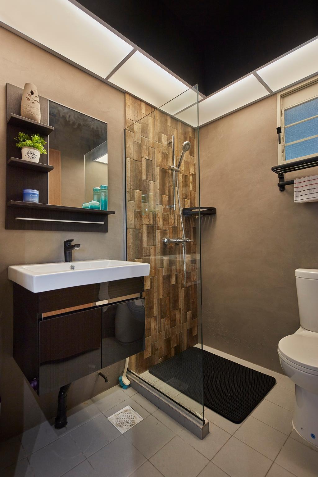 Contemporary, HDB, Bathroom, Compassvale Drive, Interior Designer, The Interior Lab