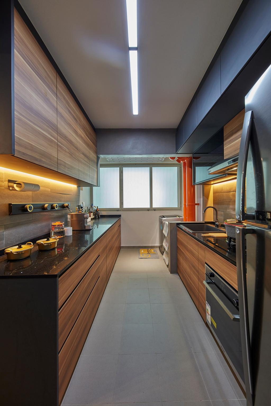 Contemporary, HDB, Kitchen, Compassvale Drive, Interior Designer, The Interior Lab