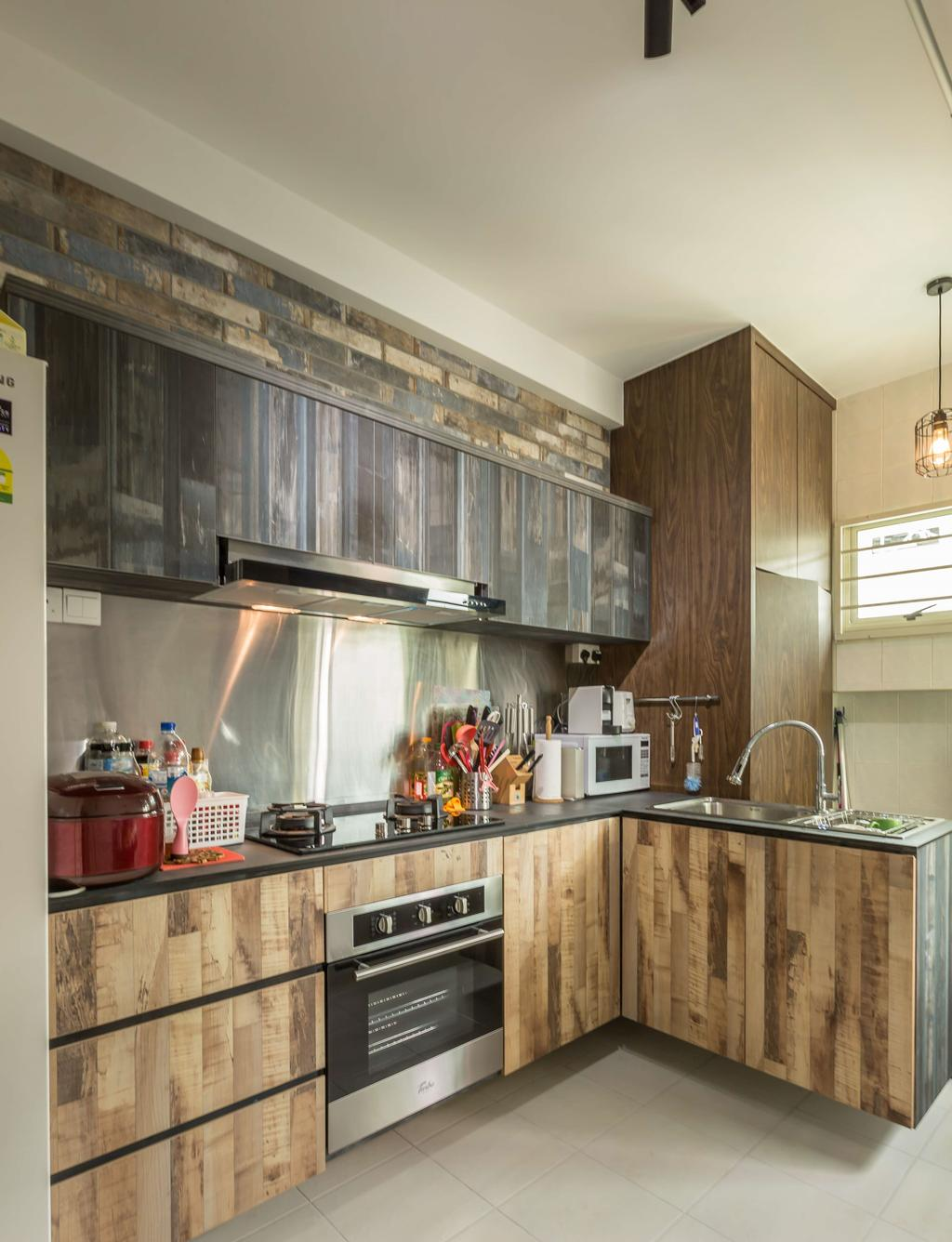 Scandinavian, HDB, Kitchen, Edgefield Plains (Block 176D), Interior Designer, Grand Studios Interior Design