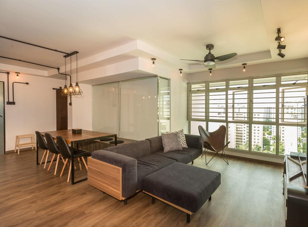 Scandinavian, HDB, Living Room, Edgefield Plains (Block 176D), Interior Designer, Grand Studios Interior Design