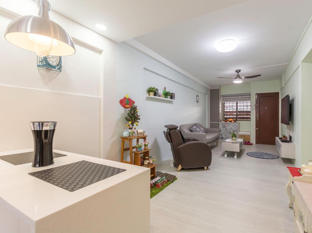 Modern, HDB, Living Room, Ang Mo Kio (Block 128), Interior Designer, Grand Studios Interior Design