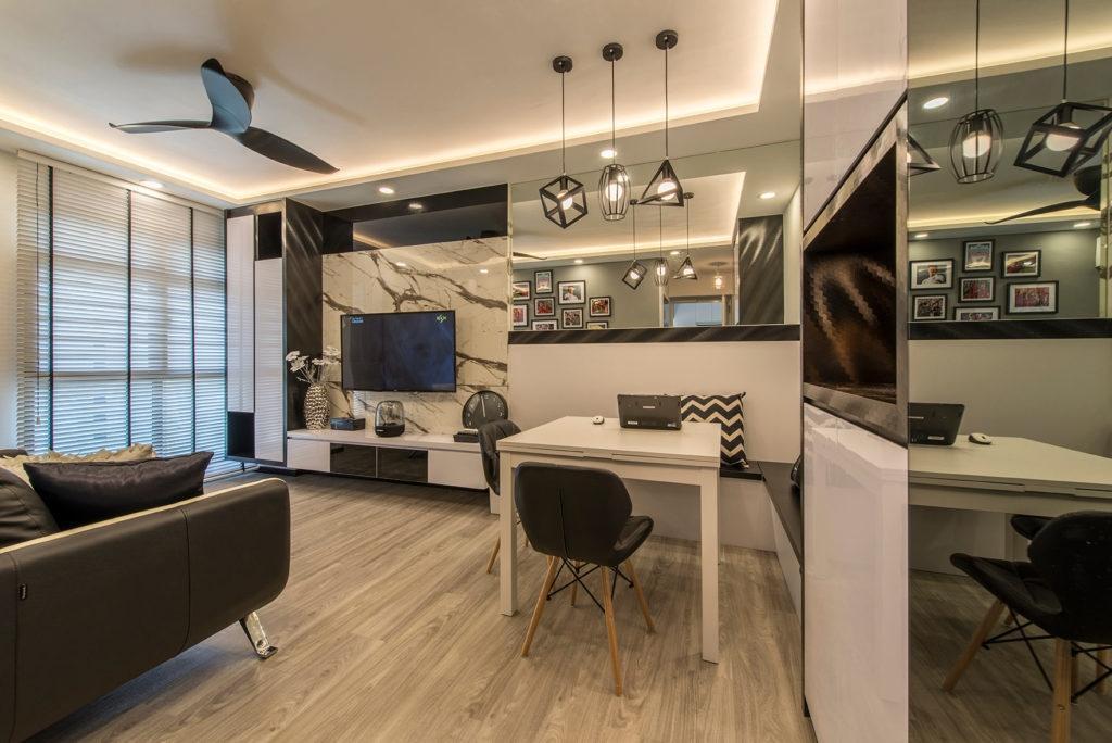 Modern, HDB, Living Room, Jalan Membina (Block 26D), Interior Designer, Grand Studios Interior Design