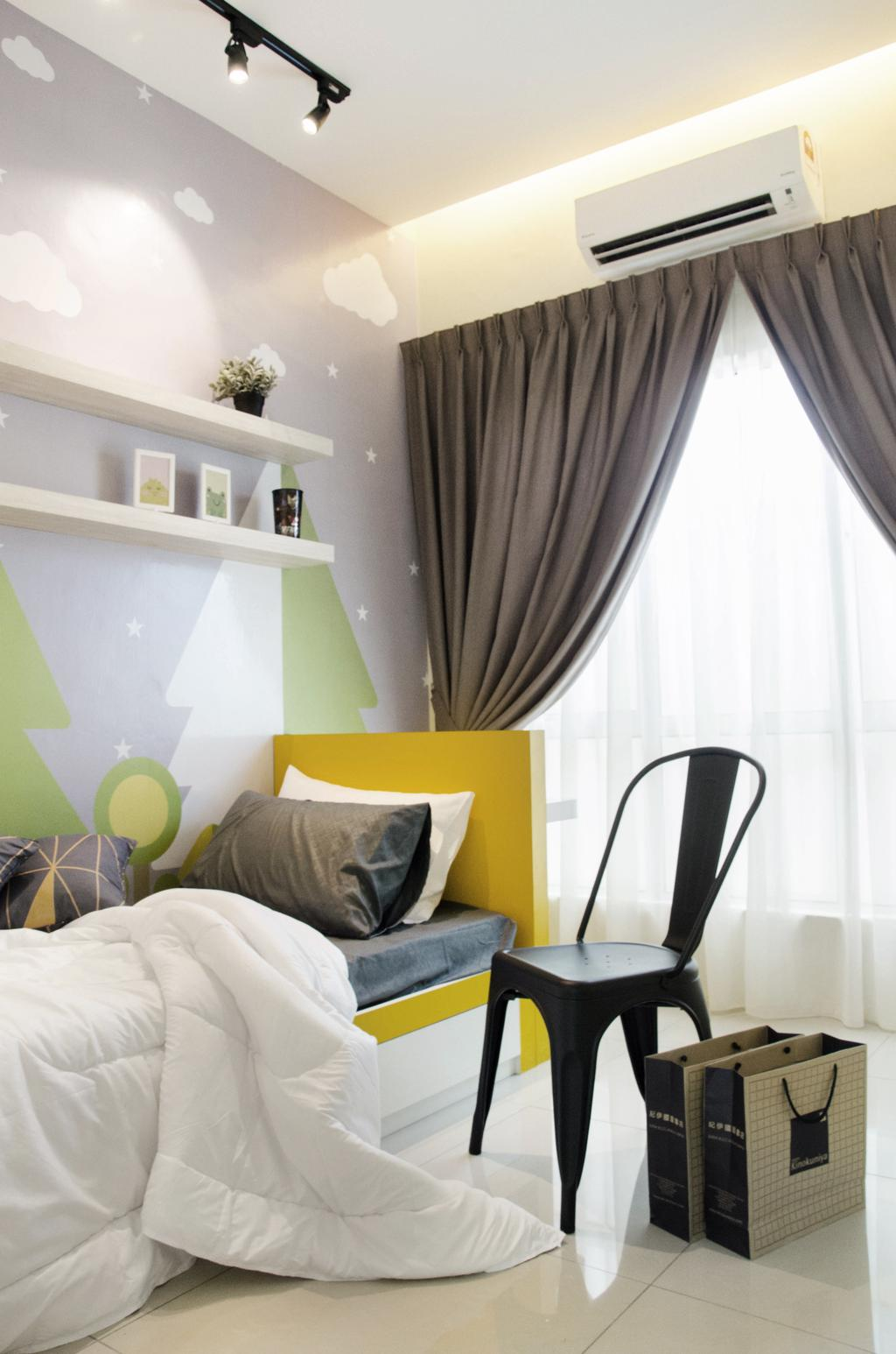 Modern, Landed, Bedroom, Meru Heights Residences, Interior Designer, Nature Concept Contracts Sdn Bhd